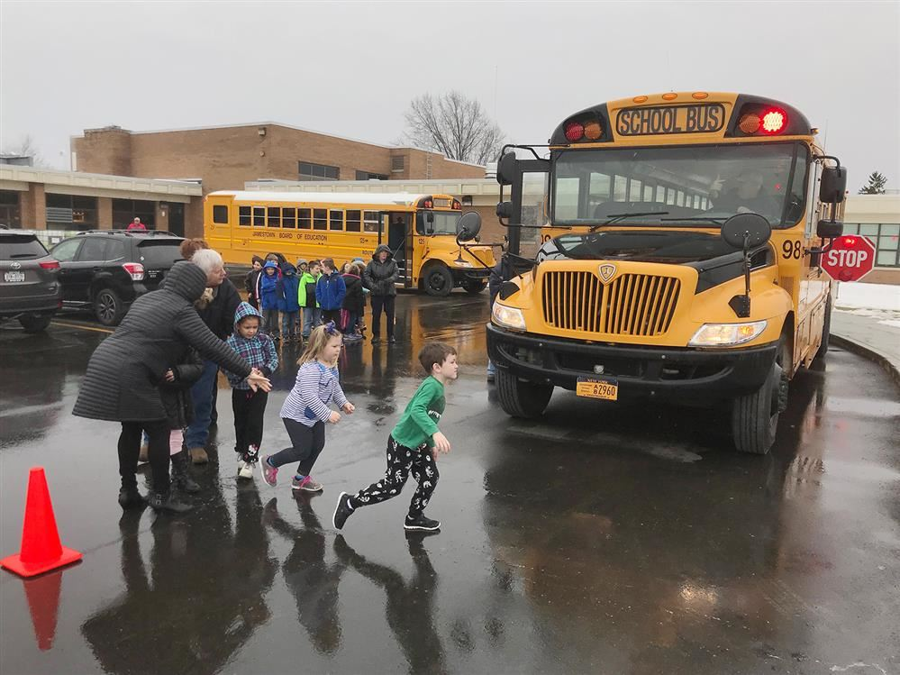 JPS Bus Safety Drills