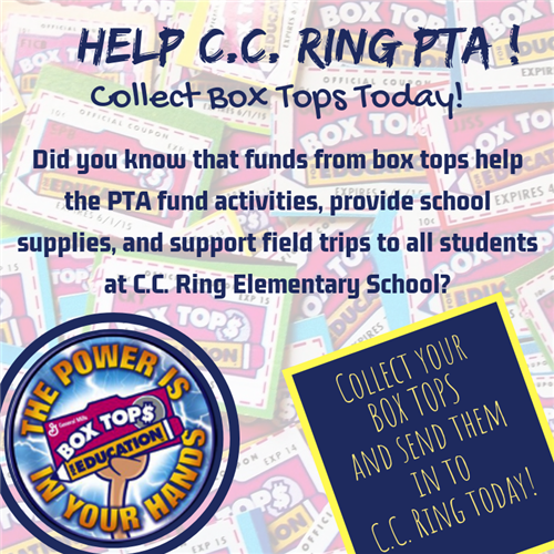 Send box tops to school to help PTA rain money!