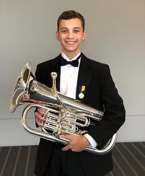 JHS Junior Dylan Lydell Selected to 2019 NAfME All-Eastern Honors Ensembles