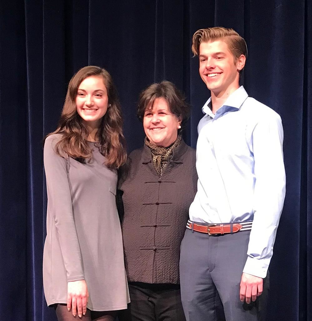 JHS senior, Finley Holt, placed first, and Kara Triscari took third in the 7th Annual JCC College Connections Speech Contest