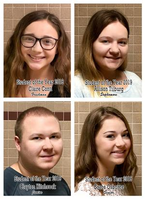 JHS Announces Students of the Year