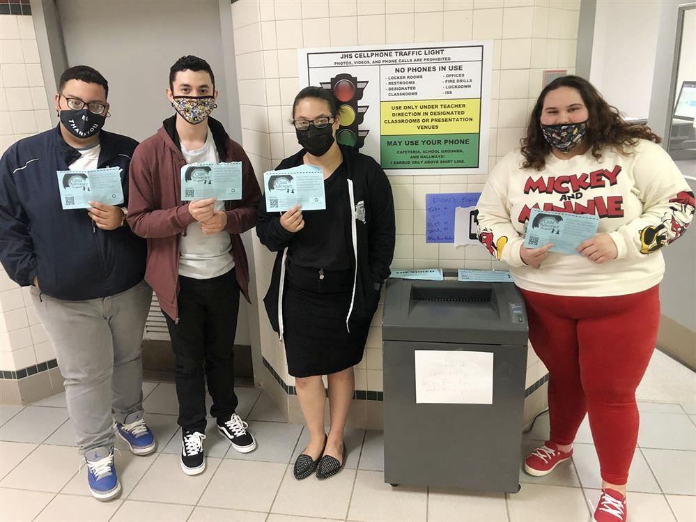 "JHS Students Join in ""The Shred Ahead"" Project with CAP"