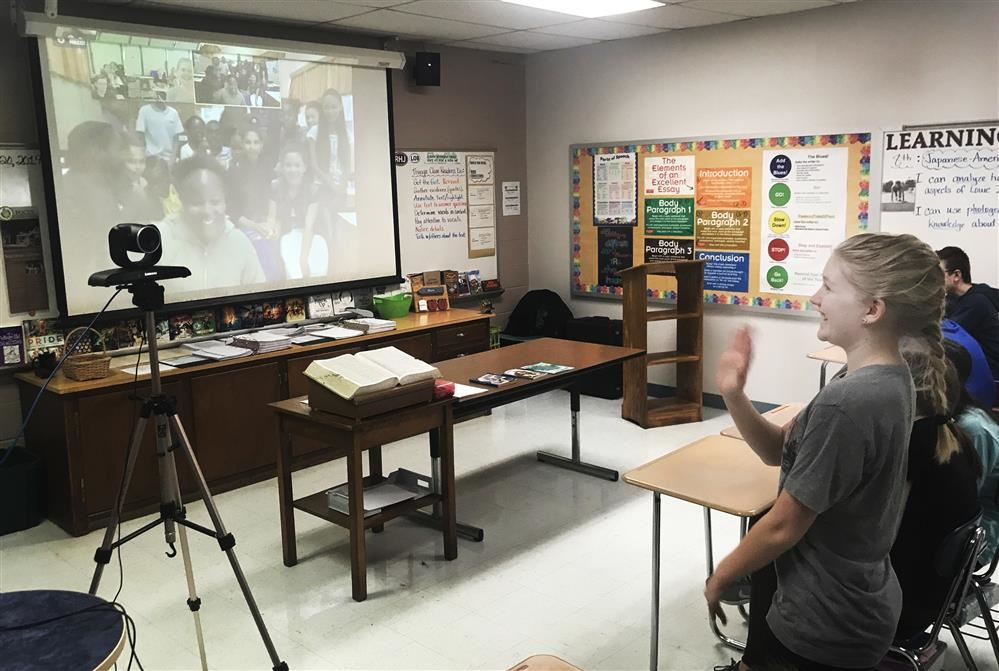 Persell Middle School 7th Graders Welcome Namibia Pen Pals Through Technology