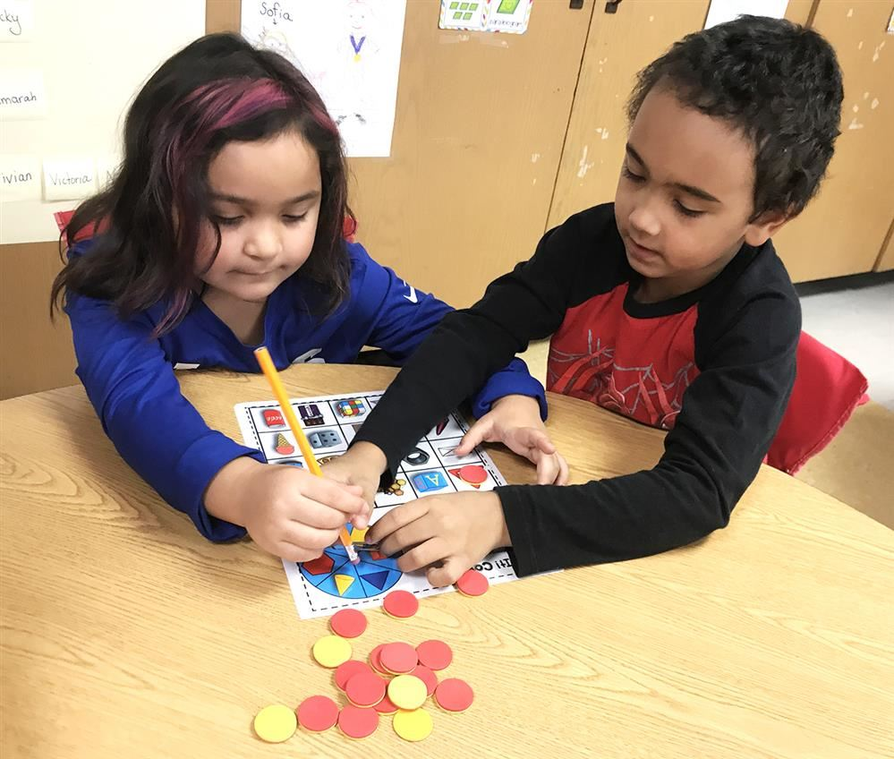 Ring School Kindergartens Use Math Stations to Make Learning Engaging
