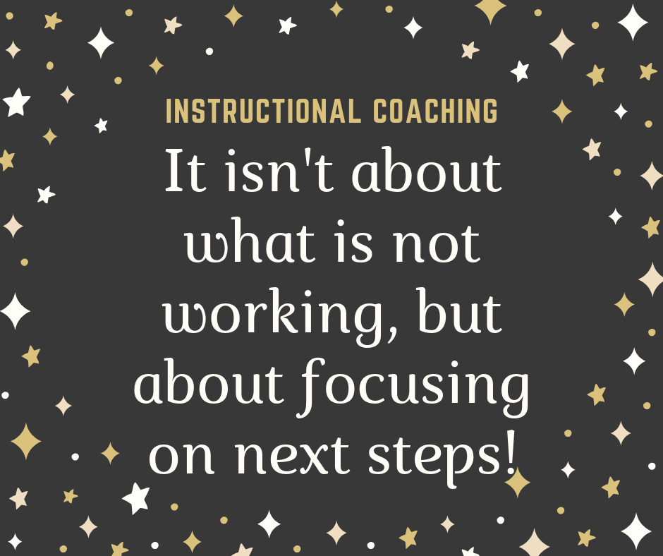 Instructional Coaching is about next steps