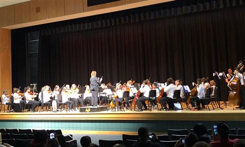 Jefferson Orchestra on stage