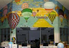 Image of mural inside Persell Middle School Library