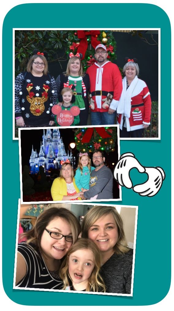 Pictures Of Mrs. Vezina and her family at Disney